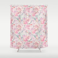 floral blush Shower Curtain by sylviacookphotography