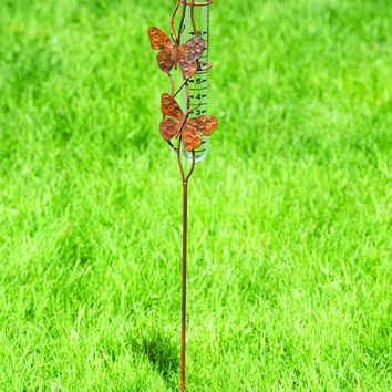 Butterfly Duo Rain Gauge - New item! Pre-order for August!