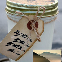 Scented Soy Candles for Coastal Living — OCEAN MIST Scented Soy Candle - 8 oz. Handmade Mason Jar Scented Candle