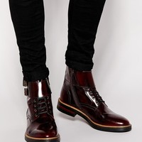 Base London | Base London Longleat Buckle Boots at ASOS