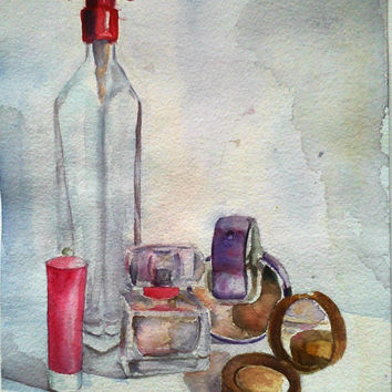 Watercolor painting, fine art, wall decoration, still life