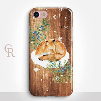 Christmas Fox iPhone 7 Plus Case For iPhone 8 iPhone 8 Plus - iPhone X - iPhone 7 Plus - iPhone 6 - iPhone 6S - iPhone SE - Samsung S8