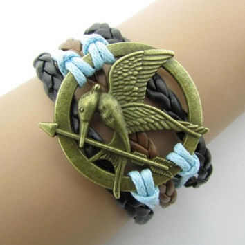 Unisex Love Birds Hunger Games Bracelet Leather Bracelet Cool