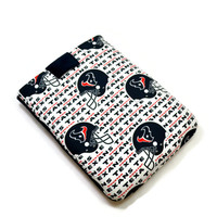 Hand Crafted Tablet Case From Licensed NFL Houston Texans   Football Team Fabric /Case for: iPad Mini, Samsung  7, Kindle Fire HD 7, Nook