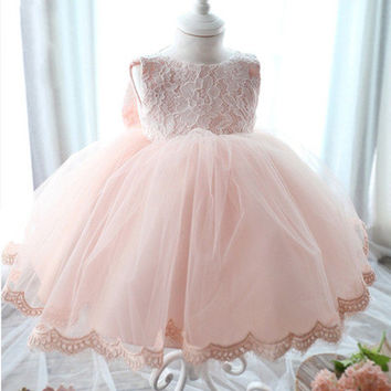 First birthday dress, party baby dress, special occasion dress girl, flower girl dress, tulle dress, tutu baby dress, second birthday dress
