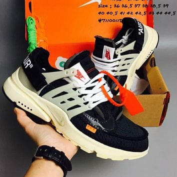 OFF-WHITE x NIKE Air Presto running shoes F-CSXY 9d253105a