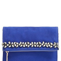 Women's Deux Lux 'Pasha' Crystal Embellished Convertible Foldover Clutch