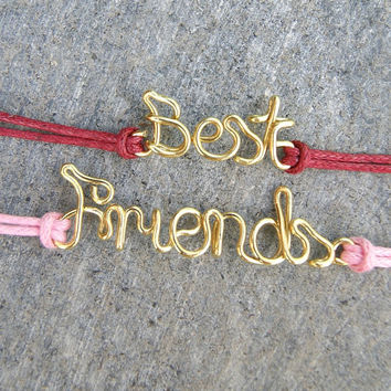 Best friends bracelets, friendship bracelet, wire bracelets