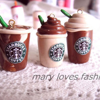 Starbucks clay charms kawaii keychain and flatbacks