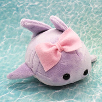Cute Handmade Plush: Kawaii Frilled Shark Bun from Kimchi Kawaii