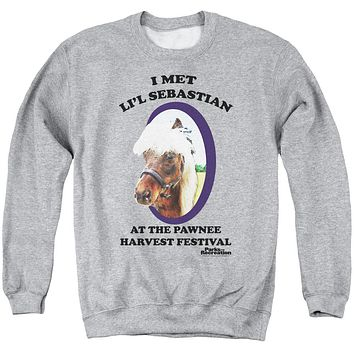Parks and Recreation Li'L Sebastian Mens Crew Neck Sweatshirt