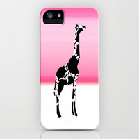 Giraffe  iPhone Case by Laura Santeler