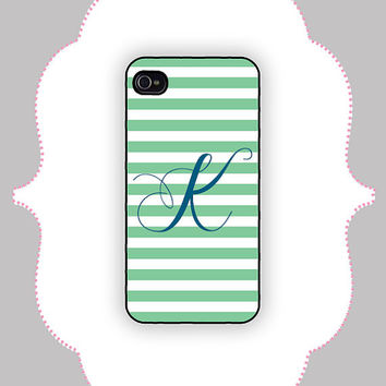 iPhone Case- Striped Monogram -iPhone 4 Case, iPhone 4s Case, iPhone 5 Case, Monogram Case, Personalized iPhone Case