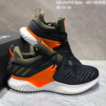 AUGUAU A463 Adidas Alphabounce Beyond 3.5 Mesh Breathable Running Shoes Green Orange