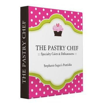 RECIPE BINDER :: PASTRY CHEF from Zazzle.com
