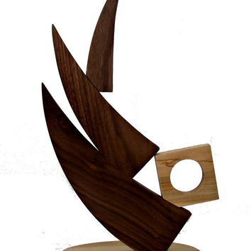 Abstract Wood Art Scuplture - Unique Wood Art - Architectual Wood Art - Home Decor - Modern Art