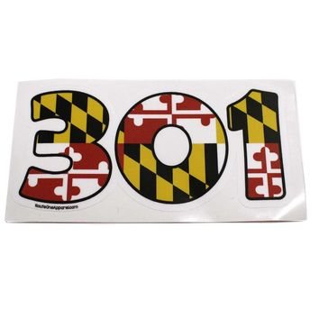 """301"" Maryland Flag / Sticker"