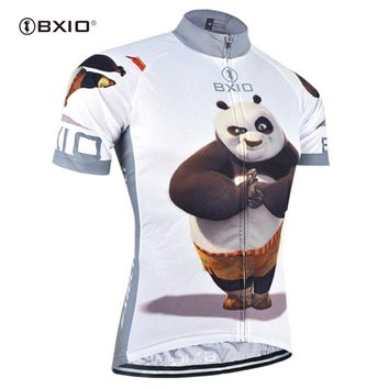 BXIO Funny Cycling Jerseys Fat Bear Bike Clothing Raiders Jersey Abbigliamento Ciclismo Estivo Camisetas Futbol BX-0209XM081-J