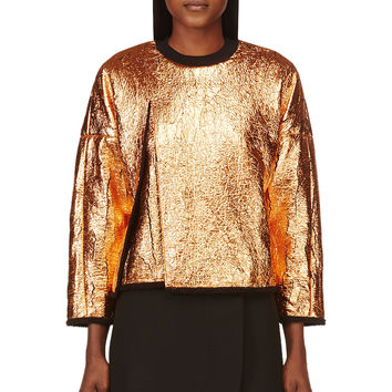 3.1 Phillip Lim Black And Copper Coated And Cracked Sweatshirt
