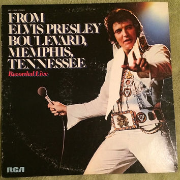 APL1-1506 1976 From Elvis Presley Boulevard Memphis Tennessee Album LP First 1st Pressing RCA Records Vinyl Album