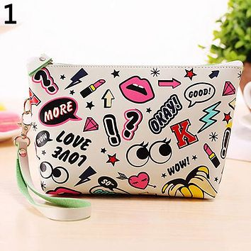 Cute Cosmetic Makeup Bag Purse Toiletry Organizer Pouch Pencil Case Wallet