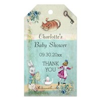 Baby Shower Alice in Wonderland Thank You Pack Of Gift Tags