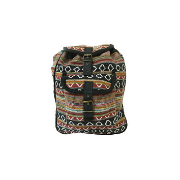 WillaRue Aztec Daypack Multi Earth Tones