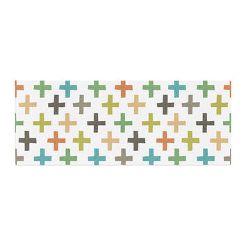 "Daisy Beatrice ""Hipster Crosses Repeat"" Multicolor Bed Runner"