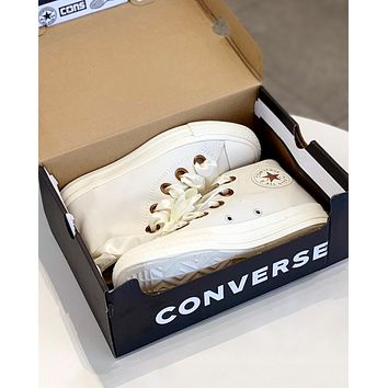 Converse 2019 new wild women's ribbon bow high canvas shoes