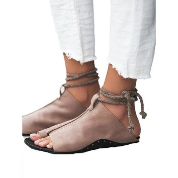 Soft Leather Sandals, Open Toe Ankle Strap, Flat Slides sapato feminino