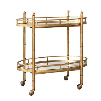 Bungalow 5 Normandy Bar Cart in Gold  NOR-325-808-TB