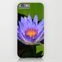 Blue Water Lily iPhone & iPod Case by YANKA