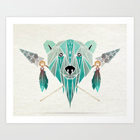 polar bear Art Print by Manoou