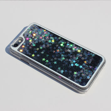 BLACK GLITTER WATERFALL CASE