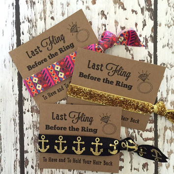 Bachelorette Party Favors // Last Fling Before the Ring - To Have & To Hold