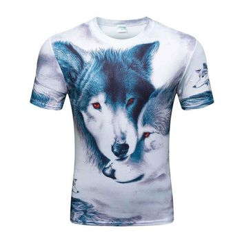 Colorful 3D Printed High Quality Tees #wolf