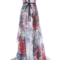 Floral Cutout Embroidered Long Dress | Moda Operandi