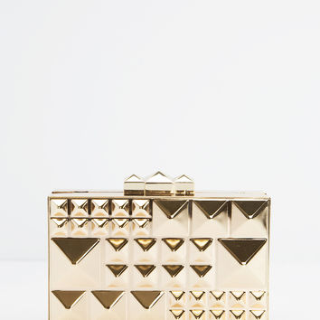 Shyann Gold Studded Clutch