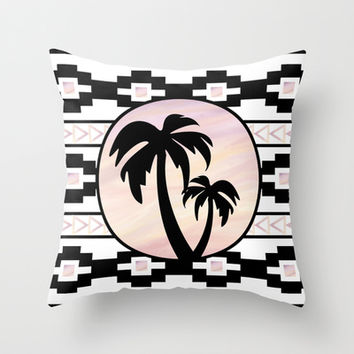 Tribal Summer Throw Pillow by NicoleSclafaniGFX