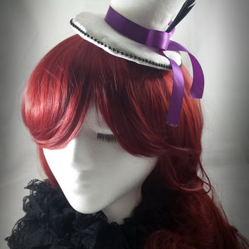 Clearance - Mad Hatter Victorian-Goth Wedding Mini Top Hat