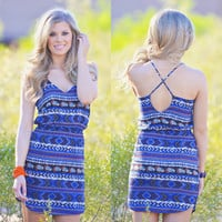 Embrace The Sun Dress - Royal