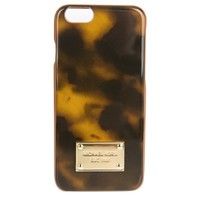 Michael Kors Acorn Tortoise Painted Trim iPhone Case