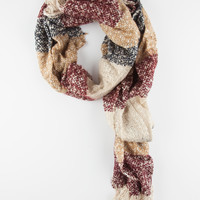 Marled Stripe Blanket Scarf Natural One Size For Women 26413442301