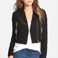 Women's J Brand Ready-To-Wear 'Aiah' Lambskin Suede Moto Jacket ,
