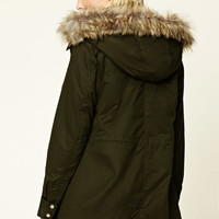Faux Fur-Trimmed Parka