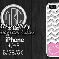 Pink Infinity Iphone 6 Case White Chevron iPhone 4 4S 5 5S 5C Case Zig Zag Live the Life you Love Rubber Silicone Plastic Not Actual Glitter