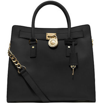 Michael Kors Large Hamilton Saffiano Leather Tote - Black