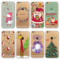 Hot Sale Christmas Gifts Santa Claus Tree Pattern Phone Case Cover For Apple iPhone 5/5S/5C/SE EC965/EC966