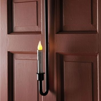 Indoor/Outdoor Over The Door Single Candle With Timer LED Bulb