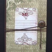 Asian Adventure Jotting Journal paper sketch writing oriental bamboo rustic brown green red compass